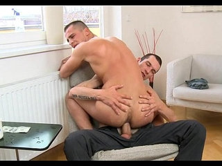 Homosexual dude gives lusty anal lickings