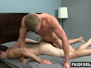 Horny straight guy getting fucked anally for cash