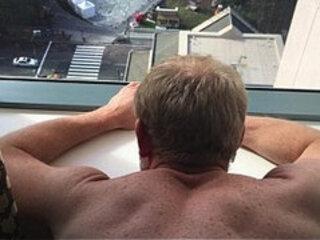 Hotel Daddy Breeding Window Fuck of a PrEP Bottom
