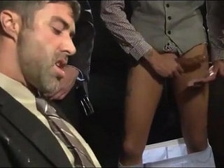 Circle Jerk Wank Party In Suits And Ties