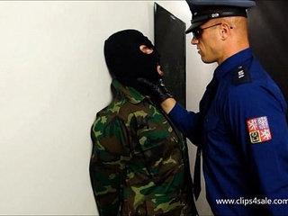 PRISON COP BOXING SLAVE - 086
