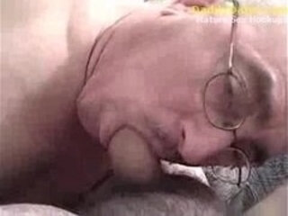 Grandpa Daddy Sucking Uncut