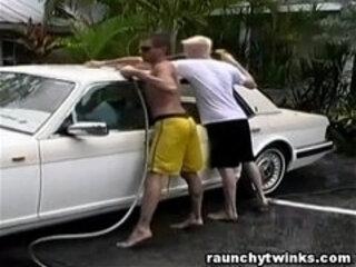 Hot Jocks Car Wash Service Turns To Crazy Fucking