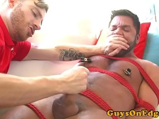 Bounded sub forced to eat cumshot of pizza