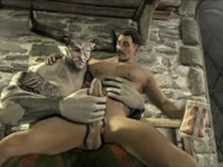Bull Man and Leon 3d gay games