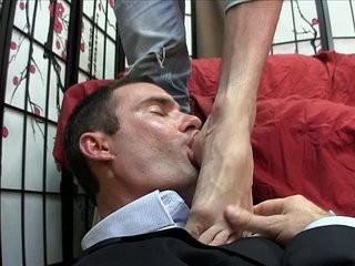 Cam worships lances feet