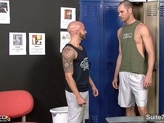 Tattooed married male gets fucked by a gay
