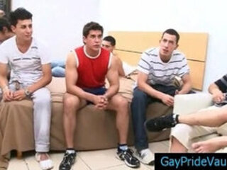 Amazing gay gangbang hardcore sex action by GayPrideVault
