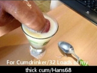 For Cumdrinker a Glass of Cum