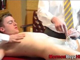 Religious elder shaves