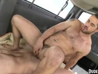 These two hot straight studs are having anal sex