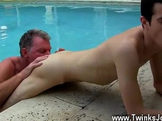 White emo bent over gay Daddy Brett obliges of course, after sharing