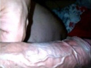 showing big veiny dick