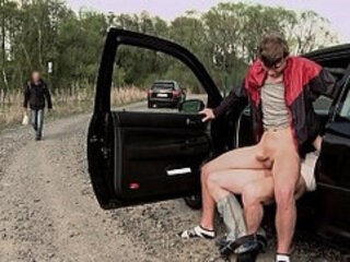 GAYWIRE Hitchhiking Leads To Public Gay Sex Featuring Paul Fresh Nathan