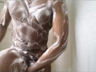 watch me shower and play with cock